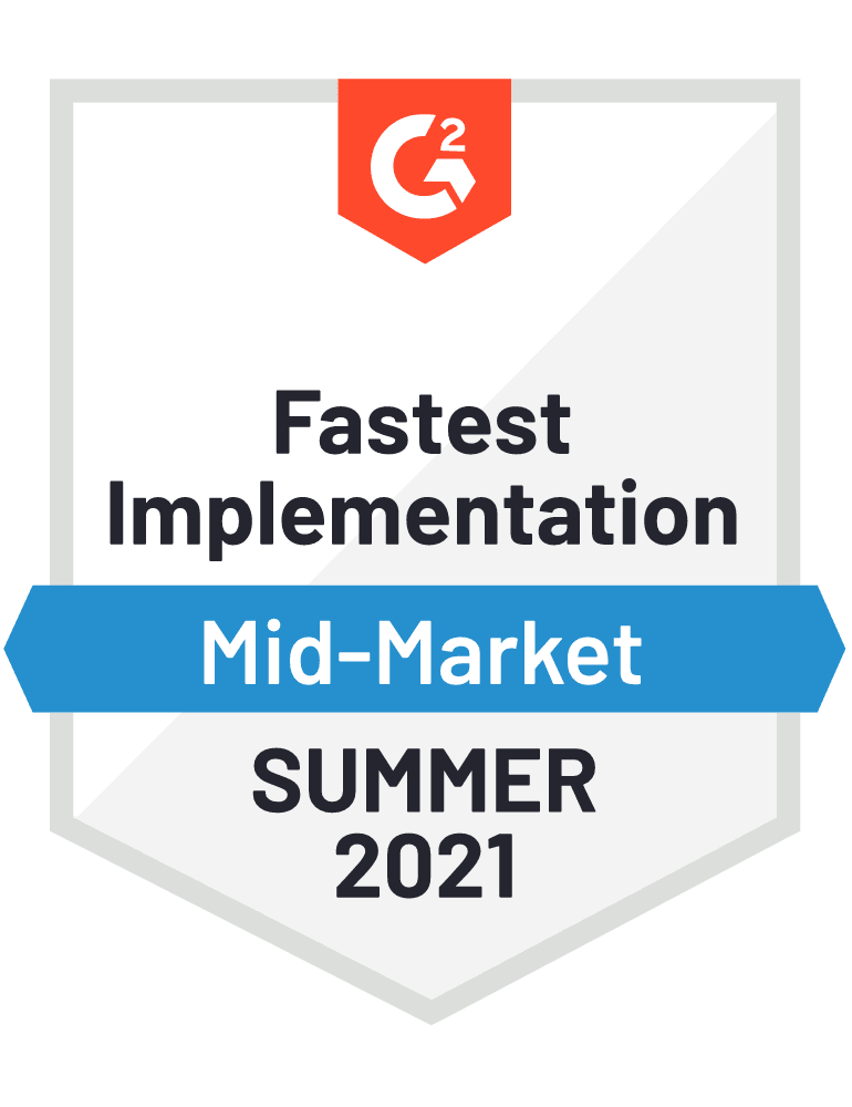 Fastest Implementation Mid-Market - Fall 2021