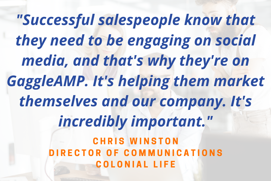 Social Selling on Employee Advocacy Colonial Life with GaggleAMP Platform